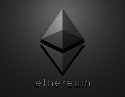 Ethereum Background and Logo of the Future