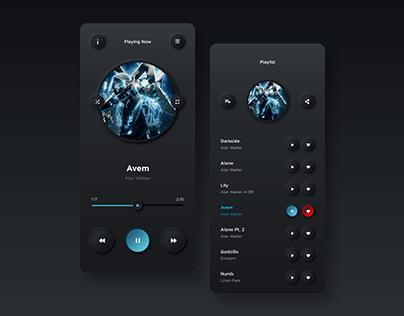 Music Player UI Design (Neumorphism Concept)