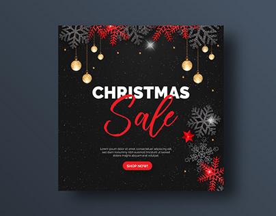 Christmas Sale social media banner or square flyer