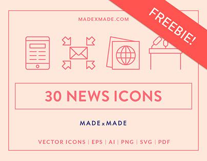 FREEBIE | Line Icons – News