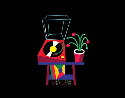 Illustrations for Vinylbox - vinyl store