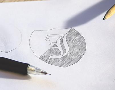 Free logo sketch mockup on behance