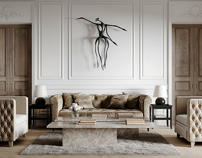 London apartment. CGI.