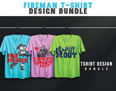 Fireman T-shirt Design Bundle