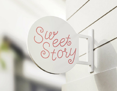 Calligraphy logo for a cafe-bakery