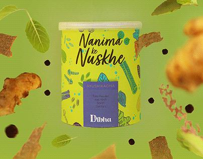 Product photography for Dibha (nanima Ke Nushke)