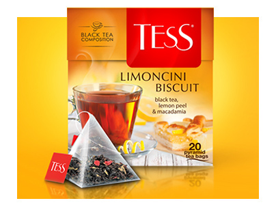 TESS PYRAMID COLL. tea package design