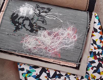 Textile sketchbook - Istanbul 2016