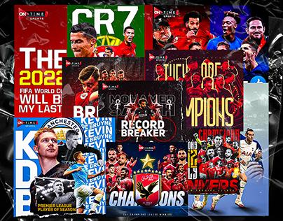 Football Social posters ( Sports graphics ) V.2