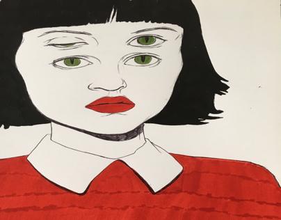 Stranger girl in red