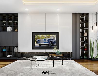 White Interior - Living Room