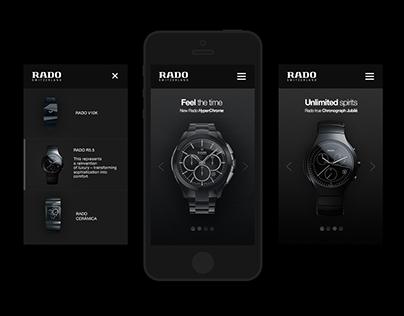 RADO | Web redesign