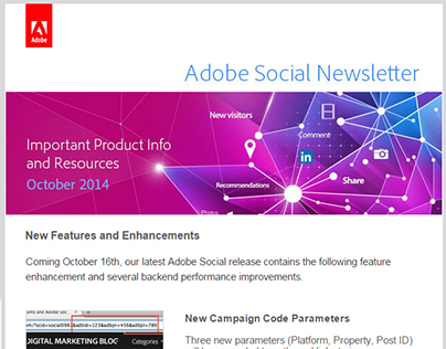 Adobe Social Newsletter