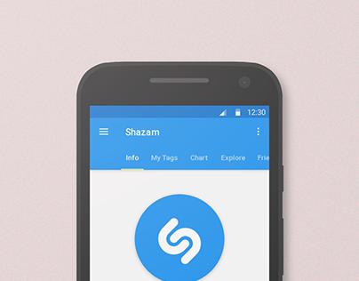 Shazam Material Design