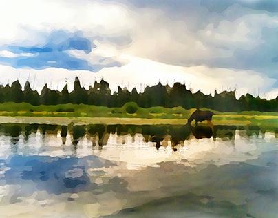 Yellowstone Watercolors - Dane Shakespear