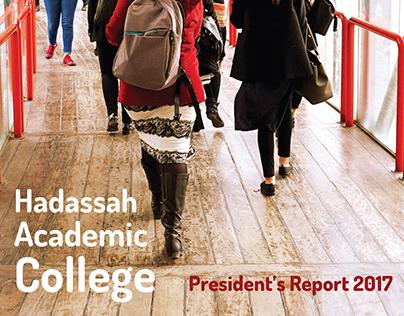 Hadassah Academic College | President's Report 2017