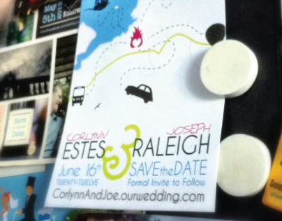 Estes-Raleigh Wedding Invites