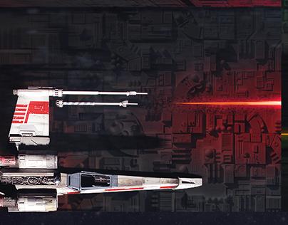 Star Wars Death Star battle Wallpaper