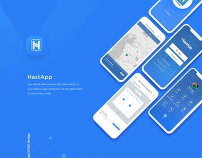 HastApp -Social Media Patform Mobile App UX-UI Design