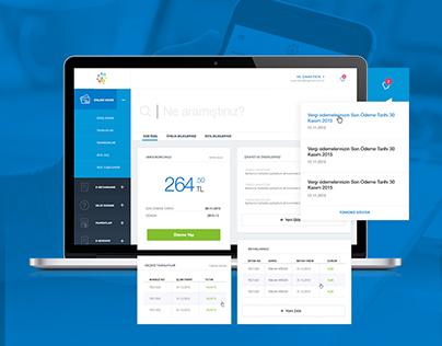 E-Belediye ve Ödeme Sistemleri Dashboard Tasarımı