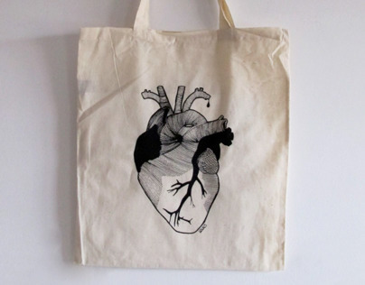 """silk-screen printed bags: Jesus and Mary Chain """"black"""""""