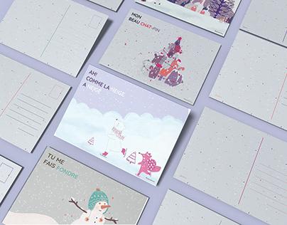 Cartes postales hiver 2020