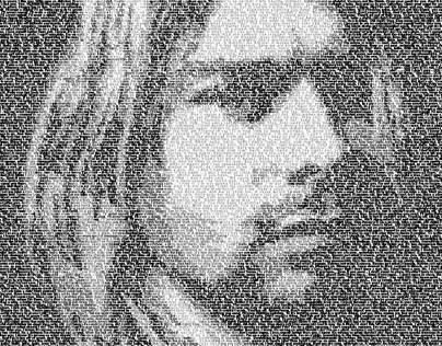 Kurt Cobain Typography Portrait