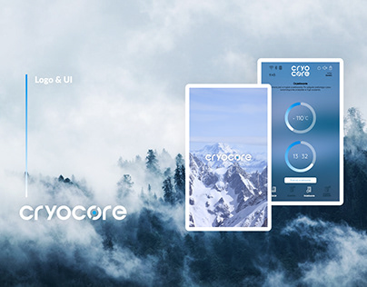Logo & UI for wellness device control panel