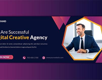 Social media ads banner or Facebook cover