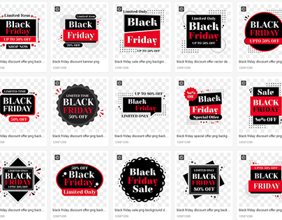 Black Friday PNG Background