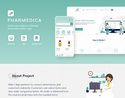 Pharmedica - UI/UX Case Study