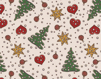 Christmas and New Year patterns and illustrations