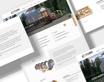 CUBO Fine Living | Landing Page Design