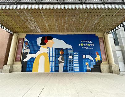 mural C-O-N-T-A-C-T