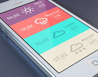 Meteo & Clock iPhone App