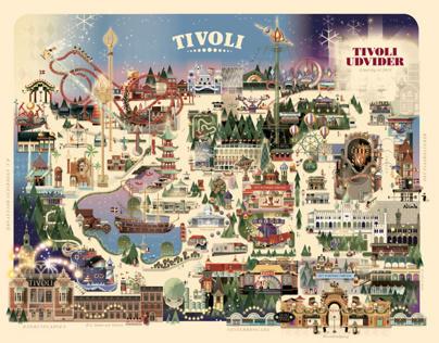 Copenhagen Tivoli - Christmas park map