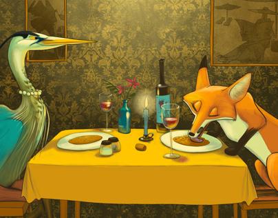 Heron and Fox