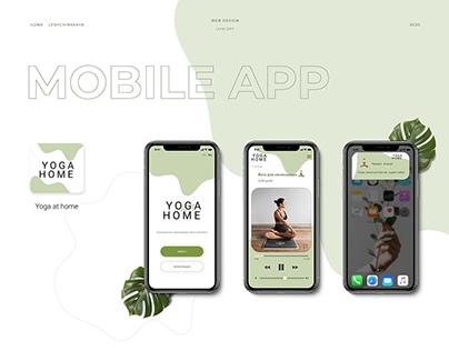 yoga at home design mobile app