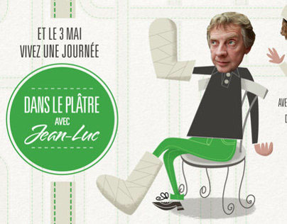 Plastered with Jean-Luc Fonck.