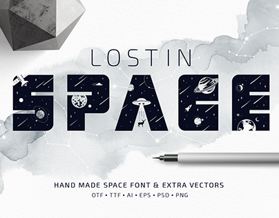 Lost In Space. Color Font (SVG)