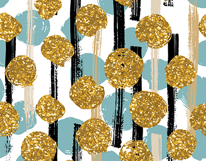 Abstarct Creative Backgrounds With Golden Glitter.