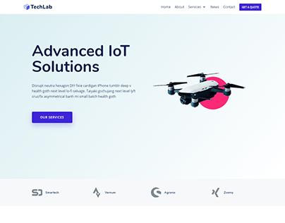 Technology website | Single product WordPress website
