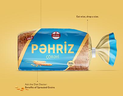 Diet bread - packaging design