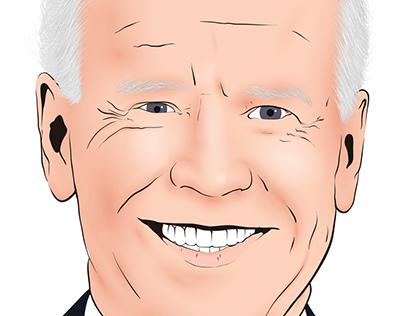 Joe Biden Portrait Vector Drawing
