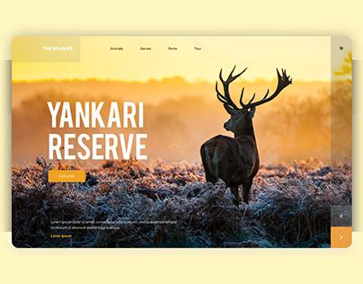 WildLife Reserve Landing Page