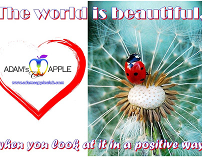 The world is beautiful, when you look at positive way