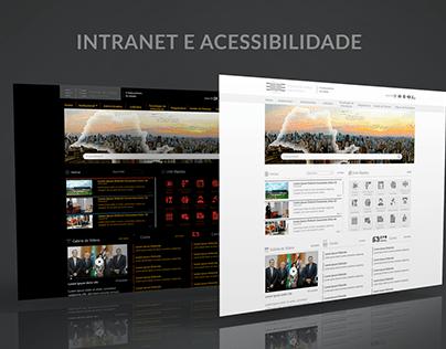 Portal Intranet - Recursos de acessibilidade