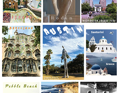 Examples of social media travel graphics