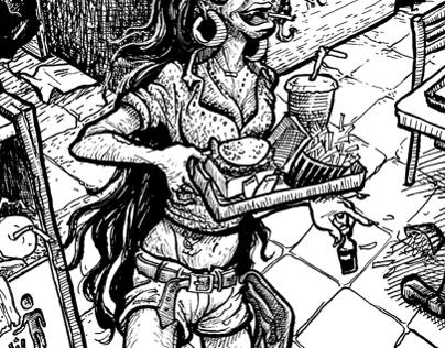 Ilustrações em hachura / Crosshatch illustrations