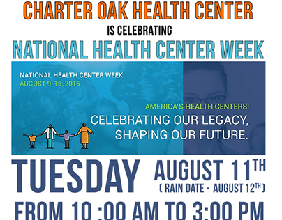 flyer for the National Health center week 2015